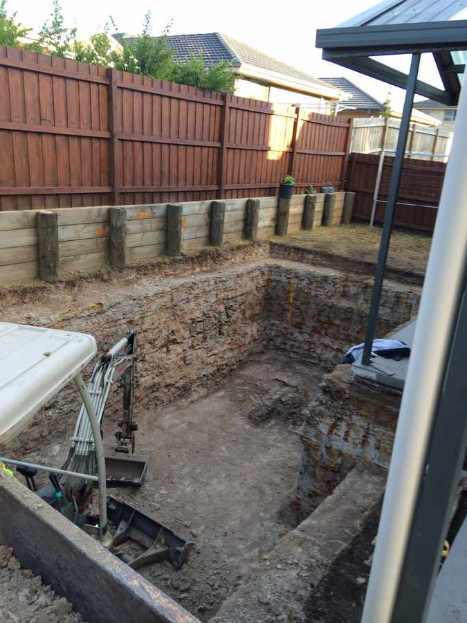 Pool Excavation North Shore Hills District Sydney Swimming Pool Excavation Equipment